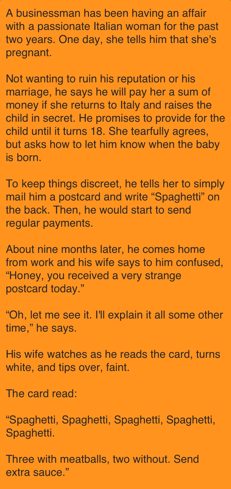 He decided to part with his pregnant mistress. And after 9 months I received a postcard